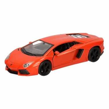 Groothandel speelgoed lamborghini aventador lp700-4 oranje welly auto