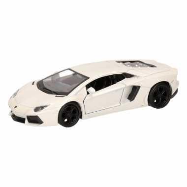 Groothandel speelgoed lamborghini aventador lp700-4 wit welly autootj