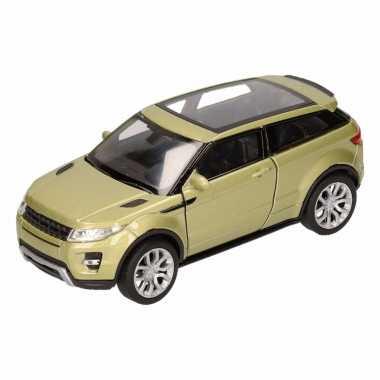 Groothandel speelgoed land/range rover evoque groen welly autootje 1: