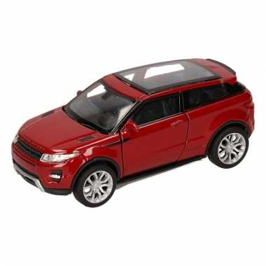 Groothandel speelgoed land/range rover evoque rood welly autootje 1:3