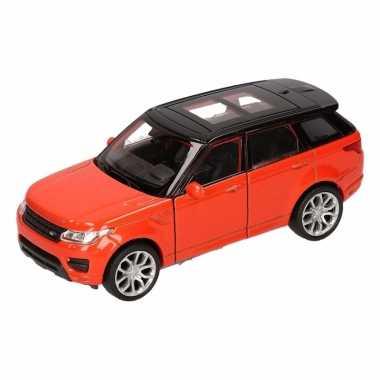 Groothandel speelgoed land rover sport oranje welly autootje 1:36 kop