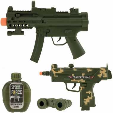 Groothandel speelgoed leger pistool wapen set 4-delig kopen
