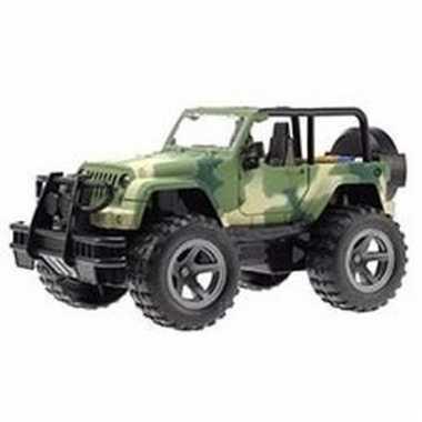 Groothandel speelgoed legergroene print jeep wrangler welly 27,5 cm k
