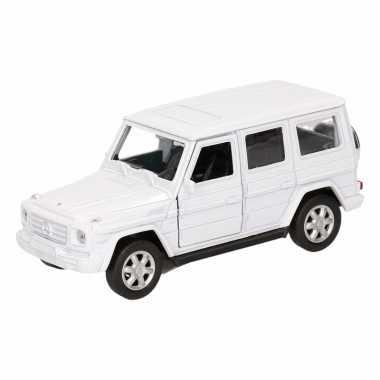 Groothandel speelgoed mercedes-benz g-class wit 12 cm kopen