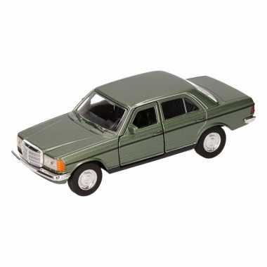 Groothandel speelgoed mercedes-benz w123 groene welly autootje 16 cm