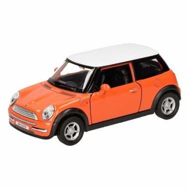 Groothandel speelgoed mini cooper oranje autootje 12 cm kopen