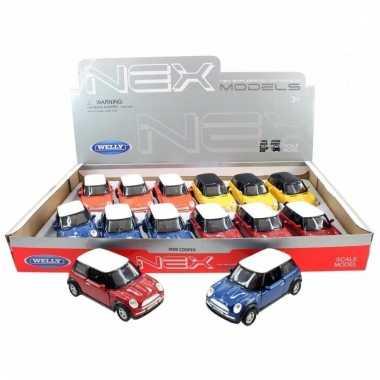 Groothandel speelgoed mini cooper oranje welly autootje 11 cm kopen