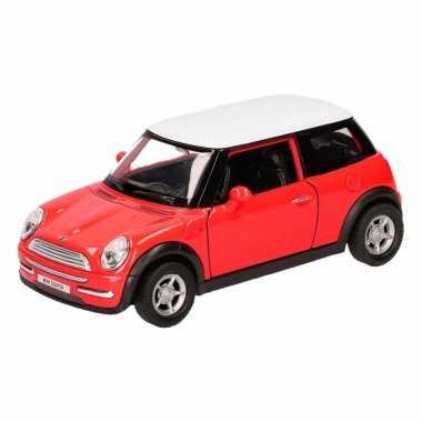 Groothandel speelgoed mini cooper rood autootje 12 cm kopen