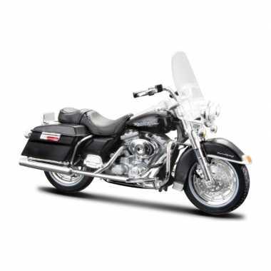 Groothandel speelgoed motor harley davidson road king 1999 zwart 1:18/15 cm kopen