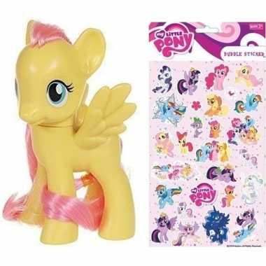 Groothandel speelgoed my little pony plastic figuur fluttershy met st