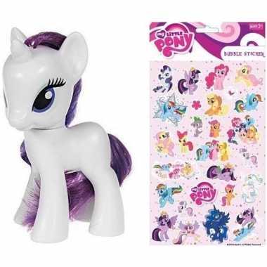 Groothandel speelgoed my little pony plastic figuur rarity met sticke