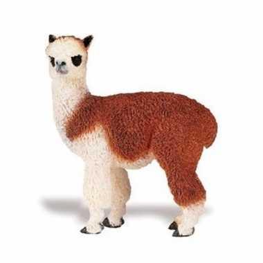 Groothandel speelgoed nep alpaca bruin/wit 9 cm kopen