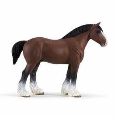 Groothandel speelgoed nep bruin trekpaard hengst 13 cm kopen