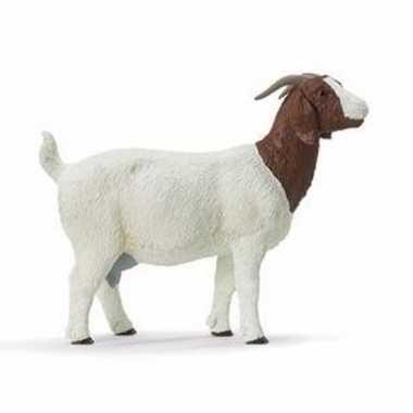Groothandel speelgoed nep geit wit/bruin 11 cm kopen