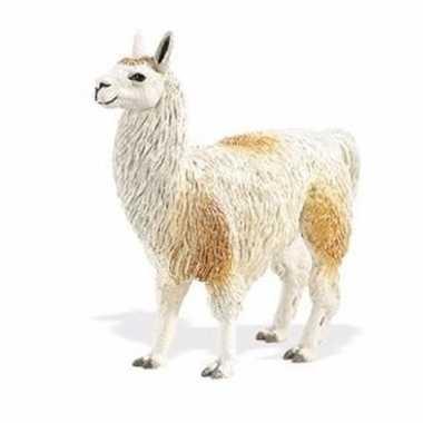 Groothandel speelgoed nep lama wit/bruin 11 cm kopen