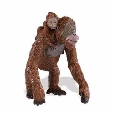 Groothandel speelgoed nep orang oetan aap met baby 9 cm kopen