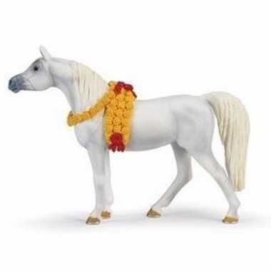 Groothandel speelgoed nep wit paard arabieren merrie 14 cm kopen