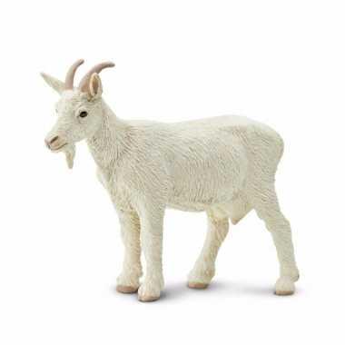 Groothandel speelgoed nep witte geit 8 cm kopen