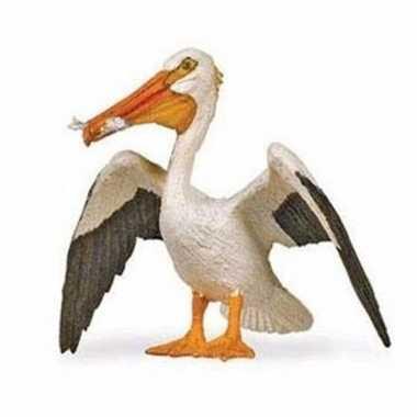 Groothandel speelgoed nep witte pelikaan 6 cm kopen