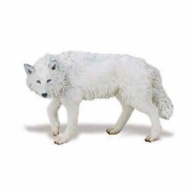 Groothandel speelgoed nep witte wolf 9 cm kopen