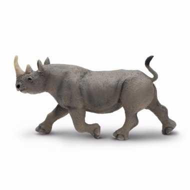 Groothandel speelgoed nep zwarte neushoorn 14 cm kopen