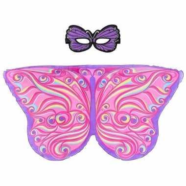 Groothandel speelgoed paars/roze vlinder verkleedset kopen
