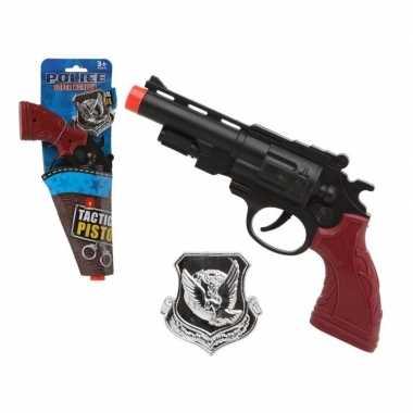 Groothandel speelgoed pistool politie zwart 27 cm kopen
