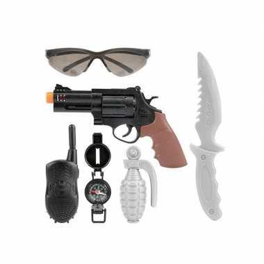 Groothandel speelgoed politie pistool wapen set 6-delig kopen
