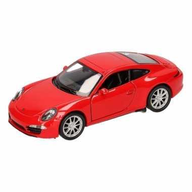 Groothandel speelgoed porsche 911 carrera s rood welly autootje 1:36