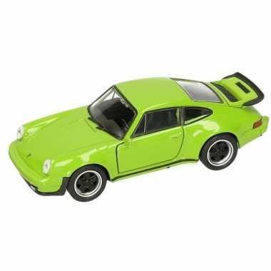 Groothandel speelgoed porsche 911 turbo groen autootje 12 cm kopen
