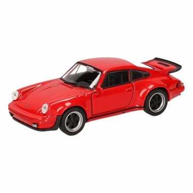 Groothandel speelgoed porsche 911 turbo rood autootje 12 cm kopen