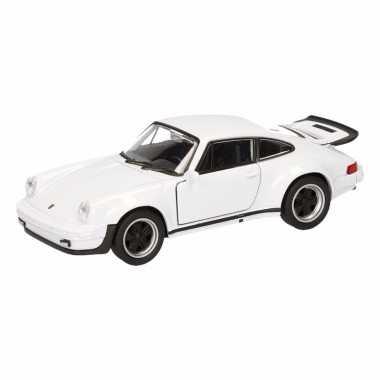 Groothandel speelgoed porsche 911 turbo wit autootje 12 cm kopen