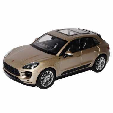 Groothandel speelgoed porsche macan turbo beige autootje 12 cm kopen