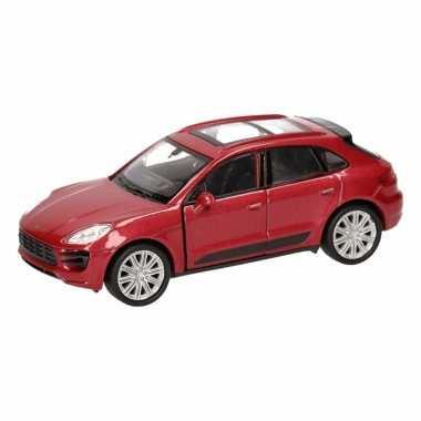 Groothandel speelgoed porsche macan turbo rood autootje 12 cm kopen