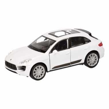 Groothandel speelgoed porsche macan turbo wit autootje 12 cm kopen