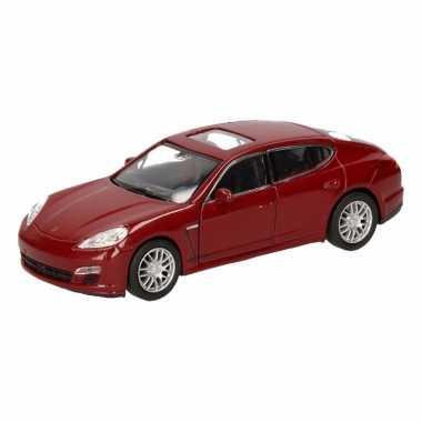 Groothandel speelgoed porsche panamera s rood autootje 12 cm kopen
