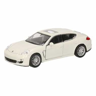 Groothandel speelgoed porsche panamera s wit autootje 12 cm