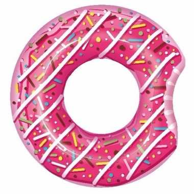 Groothandel speelgoed roze opblaas donut 107 cm kopen