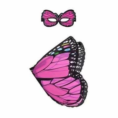 Groothandel speelgoed roze vlinder verkleedset kopen