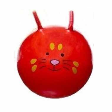 Groothandel speelgoed skippybal met dieren gezicht rood 46 cm kopen