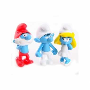 Groothandel speelgoed smurfen 13 cm kopen