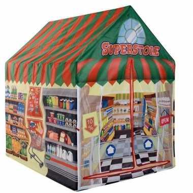 Groothandel speelgoed speeltent supermarkt winkel 102 cm kopen