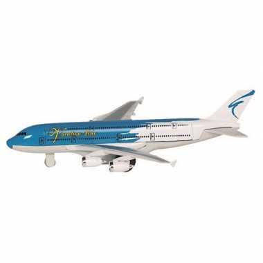 Groothandel speelgoed vliegtuigje blauw kopen
