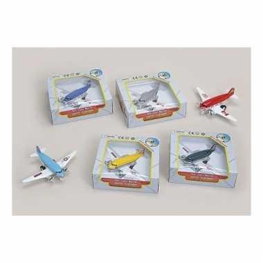 Groothandel speelgoed vliegtuigjes groen 15 cm kopen