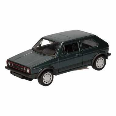 Groothandel speelgoed volkswagen golf gti i donkergroen 12 cm kopen
