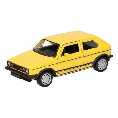 Groothandel speelgoed volkswagen golf gti i geel 12 cm kopen