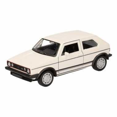Groothandel speelgoed volkswagen golf gti i wit 12 cm kopen