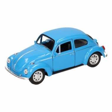 Groothandel speelgoed volkswagen kever classic blauw welly autootje 1