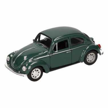Groothandel speelgoed volkswagen kever classic donkergroen welly auto