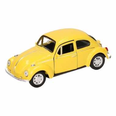 Groothandel speelgoed volkswagen kever classic geel welly autootje 14